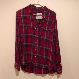 Button down plaid shirt!